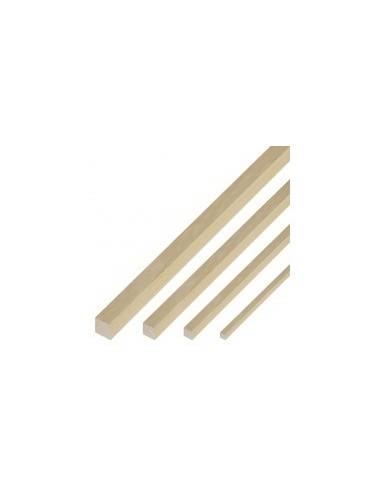Baguettes carrees de samba vrac -  section:4 x 4 mm - lot de 4 baguettes