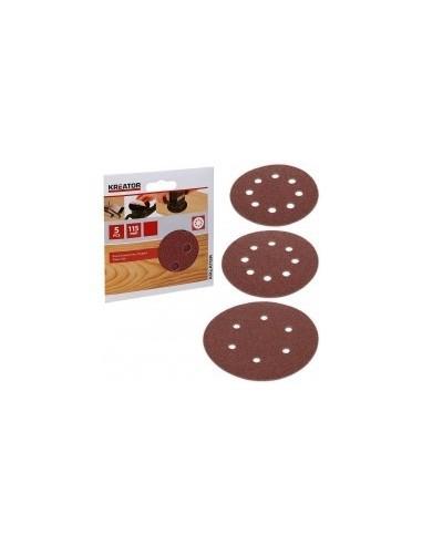 Disques abrasifs pour ponceuses sur carte -  désignation:5 disques grain:40 diamètre:115 mmfixation:auto-agrippante