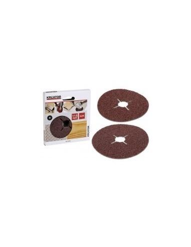 Disques abrasifs pour meuleuses sur carte -  désignation:5 disques grain:24 diamètre:115 mmfixation:trou central