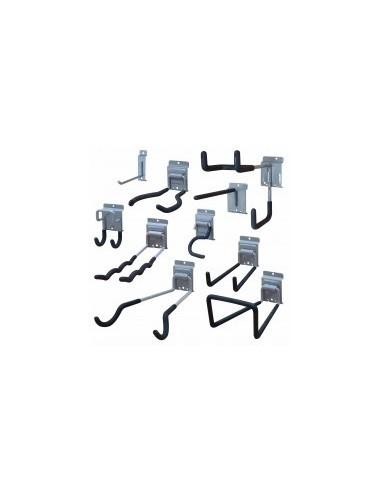 Crochets sur carte - repère:h désignation:double crochet à encoches acier gainécaractéristiques:300 mm