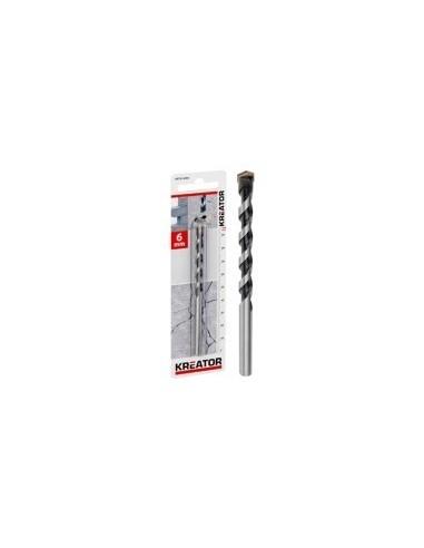 Meches beton sur carte -  désignation:1 mèche diamètre:6,0 mm longueur:200 / 140 mm