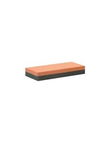 Pierre d'affûtage sur carte -  dimensions:150 x 50 x 25 mùm grain:180 / 400