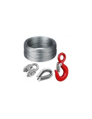 C,ble acier et accessoires vrac -  désignation:crochet 1 tonne - oeil ø 22 mm - ouverture 20 mmcharge de rupture:
