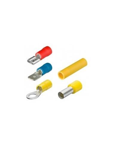 Cosses et connecteurs isoles boîte - réf.:97.99.179 désignation:100 cosses couleur:jaunec,ble:4,0 / 6,0 mm²caractéristiques: