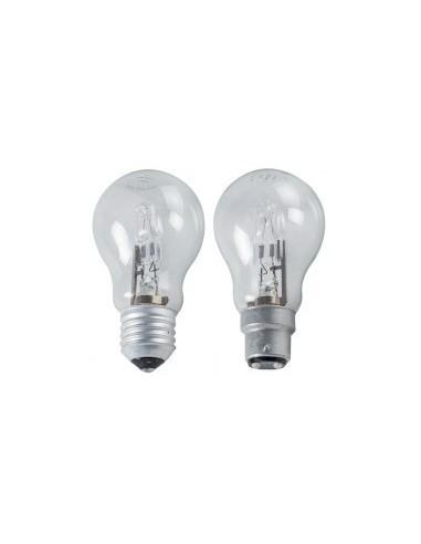 Ampoules halogenes forme standard libre service -  désignation:2 ampoules puissance:52wlumen:820culot:a vis e27