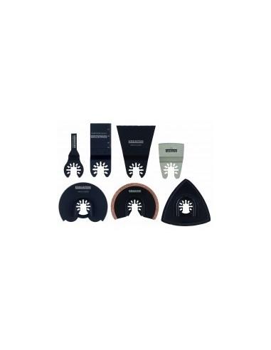 Accessoires pour outil oscillant multifonctions libre service -  désignation:kit 23 piècescaractéristiques:3 lames + 20 patins