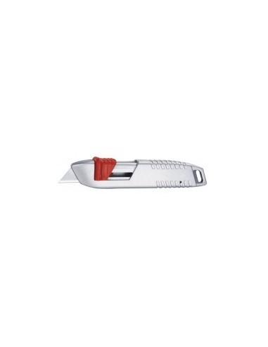 Couteau de securite auto-retractable sur carte -  désignation:couteau de sécurité