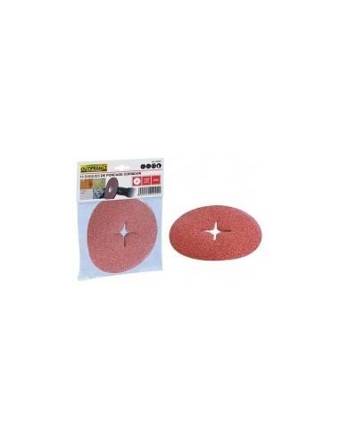 Disques abrasifs pour perceuses sur carte -  désignation:10 disques grain:80 diamètre:127 mmfixation:trou central