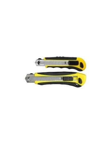 Cutter bi-matiere auto-bloquant a chargeur vrac -  désignation:1 cutter largeur:18 mm