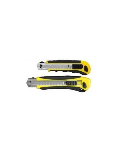 Cutter bi-matiere auto-bloquant a chargeur sur carte -  désignation:carte de 1 cutter  largeur:18 mm