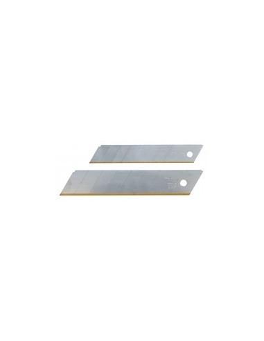 Lames de cutter 'titane' sur carte -  désignation:distributeur de 10 lames  largeur:18 mm