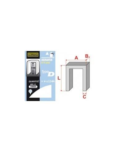 Agrafes - type d blibox -  longueur pattes:8 mm quantité:880 p.