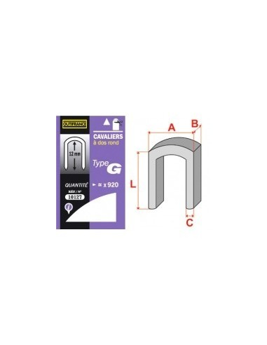 Cavaliers - type g blibox -  longueur pattes:14 mm quantité:440 p.