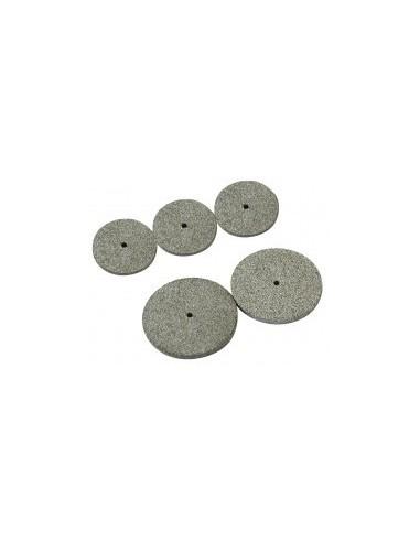 Meules disques corindon melange mica sur carte -  désignation:2 disques mica diamètre:35 mm epaisseur:3 mmalèsage:2 mm
