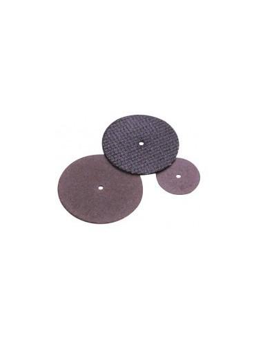 Disques a tronconner en oxyde d'alumine sur carte -  désignation:10 disques à tronçonner diamètre:22 mm epaisseur:0,5 mmalès