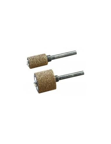 Tambours abrasifs au carbure de tungstene sur carte -  désignation:1 tambour carbure de tungstène + 1 support diamètre:9 mm