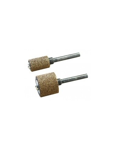 Tambours abrasifs au carbure de tungstene sur carte -  désignation:1 tambour carbure de tungstène + 1 support diamètre:15 mm