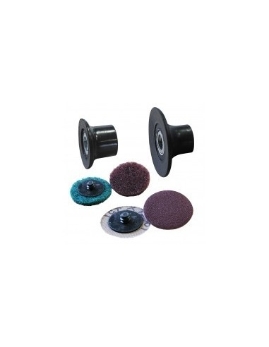 Disques abrasifs + porte-disques 1/4 tour sur carte -  désignation:1 disque épongecaractéristiques:bois, métalø: