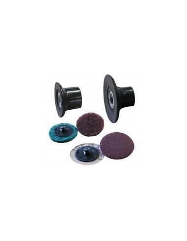 Disques abrasifs + porte-disques 1/4 tour sur carte -  désignation:4 disques assortiscaractéristiques:bois, métal, plastiqueø
