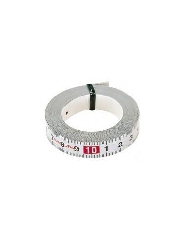 Ruban de mesure adhesif vrac -  longueur:1 m largeur:13 mm