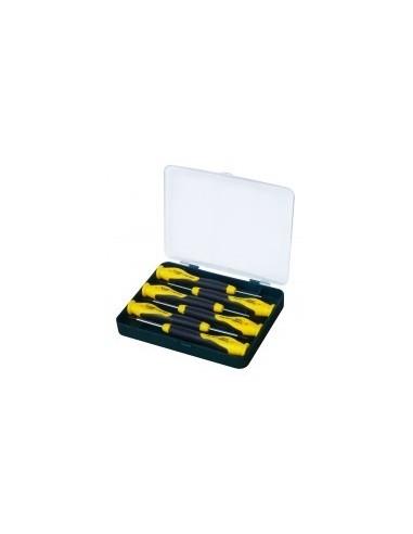 Coffret de 6 tournevis de precision libre service - caractéristiques:coffret de 6 tournevis plats et philips
