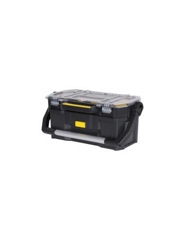 Boite a outils avec couvercle organiseur vrac - réf.: dimensions:556 x 249 x 320 mm