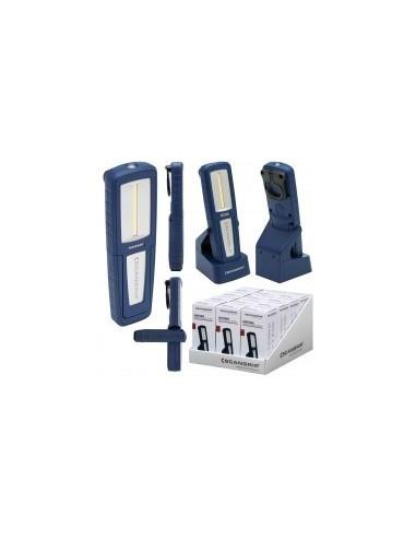 Baladeuse torche 'uniform' boîte -  désignation:baladeuse torche uniform - 400 / 150 lumens puissance: alimentation:batterie li-