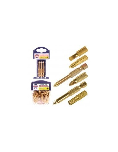 Embout de vissage titanium libre service -  désignation:coffret de 25 emboutstype:pz 1 longueur:25 mm