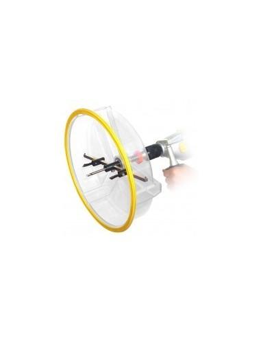 Decoupe cercles pro avec cloche boîte -  désignation:découpe cercle + cloche + 2 paires de couteaux (hss et carbure)