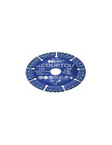 Disque diamant tout en un sur carte -  diamètre:ø 125 mm alésage:22,2 mm epaisseur:2,8 mm
