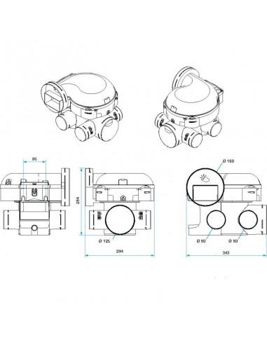 Kit Complet 3 Bouches Et Entree D Air Hygroreglable Gaines Et Vmc Aldes Easyhome Hygro Premium Mw B Kit Complet Gaines Et Vmc S