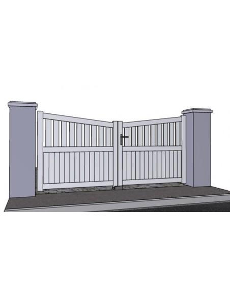 portail alu battant frejus biais bas sur mesure. Black Bedroom Furniture Sets. Home Design Ideas