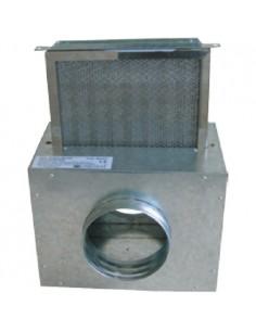 Caisson filtre 125mm air chaud unelvent