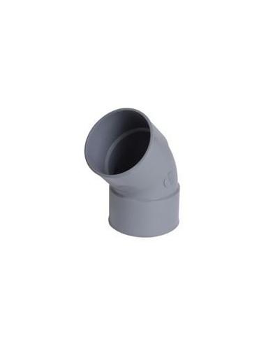 Coude 45° en PVC diamètre 32, FF double emboiture