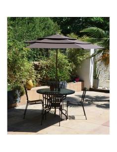 parasol diam. 3 m canopy - taupe