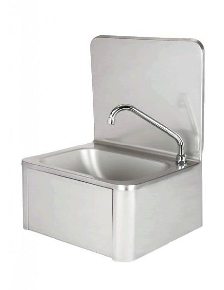 Evier en inox -Lave-mains avec robinet et distributeur de savon