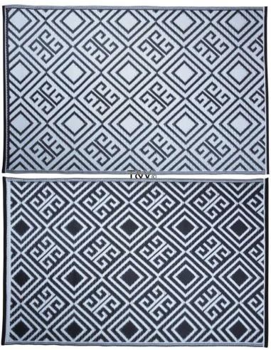 tapis d'exterieur noir blanc 119