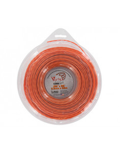 Coque fil nylon copolymère VORTEX Alu orange - Longueur: 26m