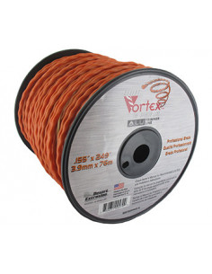 Bobine fil nylon copolymère VORTEX Alu orange - Longueur: 76m