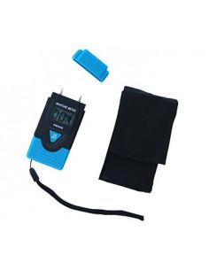 Testeur d'humidité compatible pour mesurer l'humidité du bois coupé et de matériaux durcis. Indicateur niveau de charge Batterie