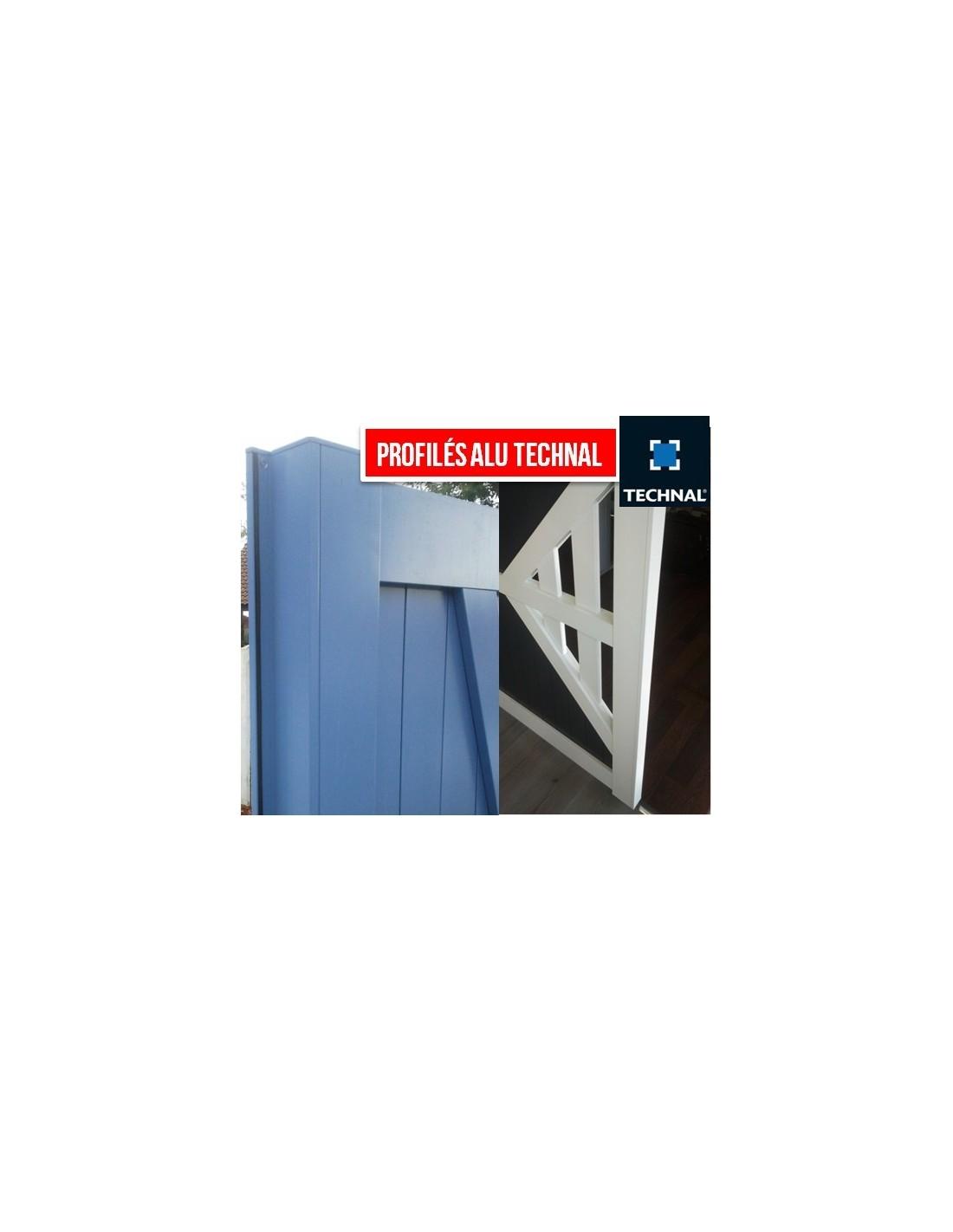 Portail aluminium ouvrant plein droit lames en diagonale 3m, 3m50, 4m, 4m50, 5m