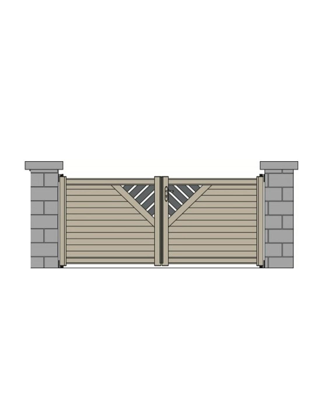 portail aluminium perpignan design contemporain sur mesure 3m50 4m 4m50 5m. Black Bedroom Furniture Sets. Home Design Ideas