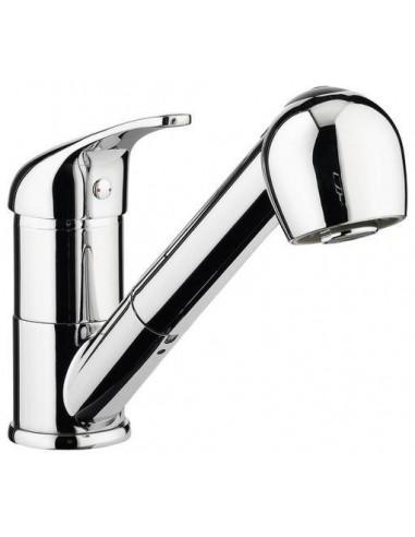 mitigeur et douchette retractable pour évier