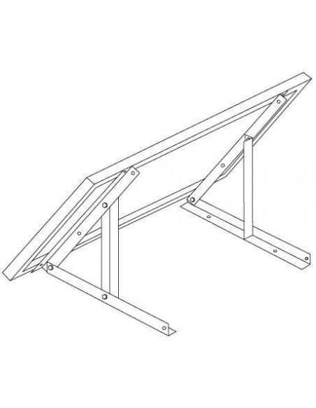 support panneau solaire taille m sol ou mural. Black Bedroom Furniture Sets. Home Design Ideas