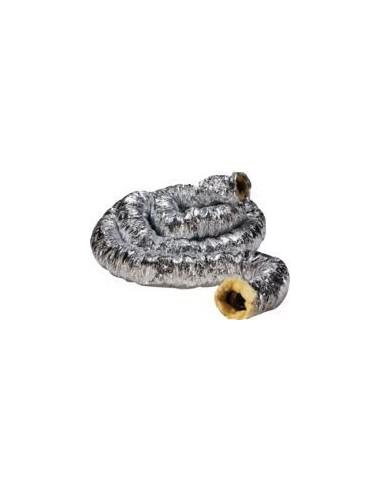Gaine souple alu isolée pour cheminée (distribution d'air chaud)