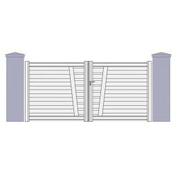 portail aluminium standard portail petit prix portail cloture. Black Bedroom Furniture Sets. Home Design Ideas