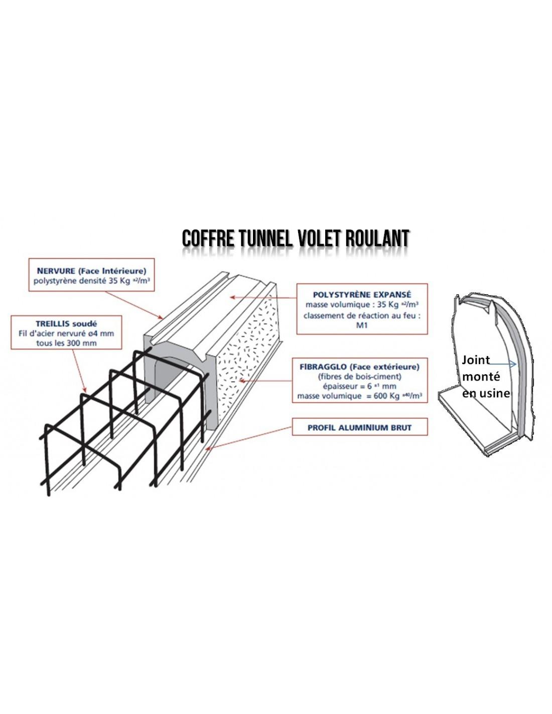 Poser Des Tringles À Rideaux Avec Coffre Volet Roulant coffre tunnel maçonnerie pour volet roulant t24