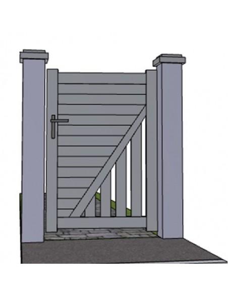 Portillon aluminium design nantes sur mesure for Portillon sur mesure