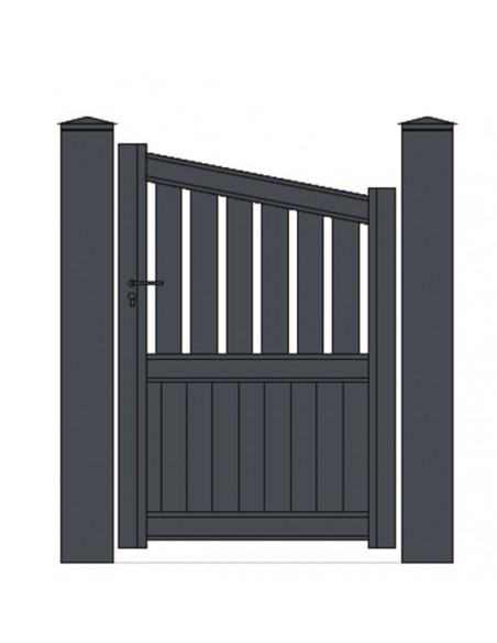 portillon aluminium biais semi plein sur mesure technal. Black Bedroom Furniture Sets. Home Design Ideas