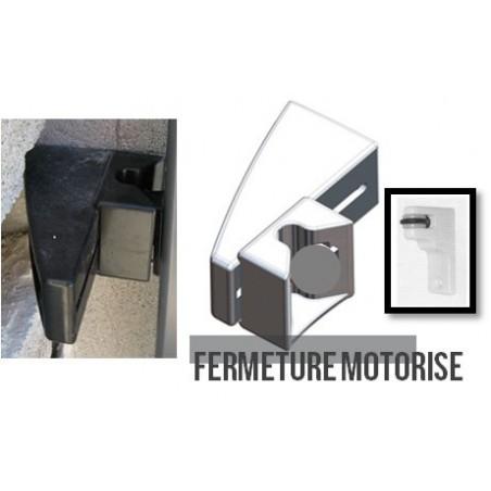 g che de portail coulissant noir fermeture automatique. Black Bedroom Furniture Sets. Home Design Ideas